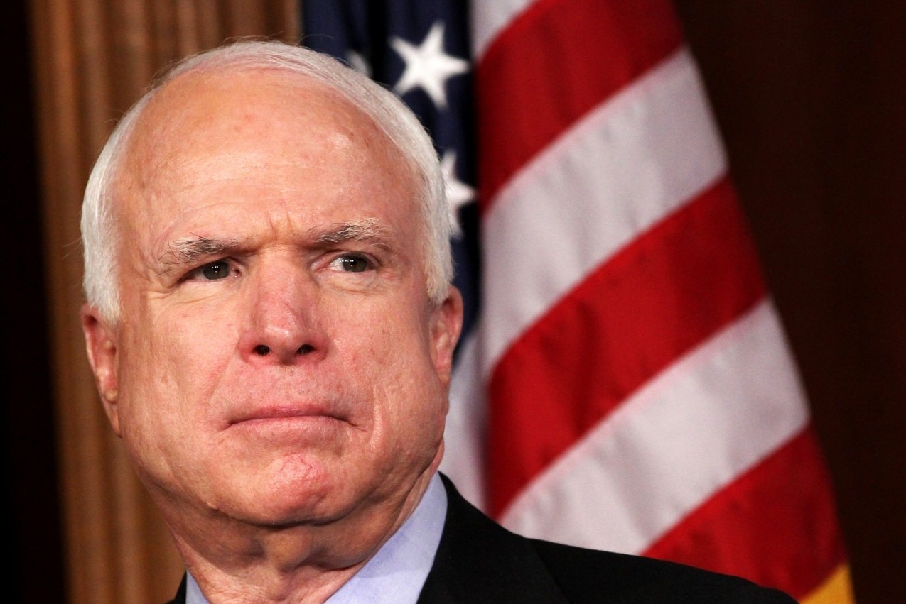 John McCain confirms he's probably going to die from his brain cancer. Hours later, Donald Trump attacks him.