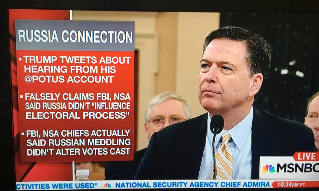 Donald Trump tweets lies during Russia hearings, but MSNBC ...