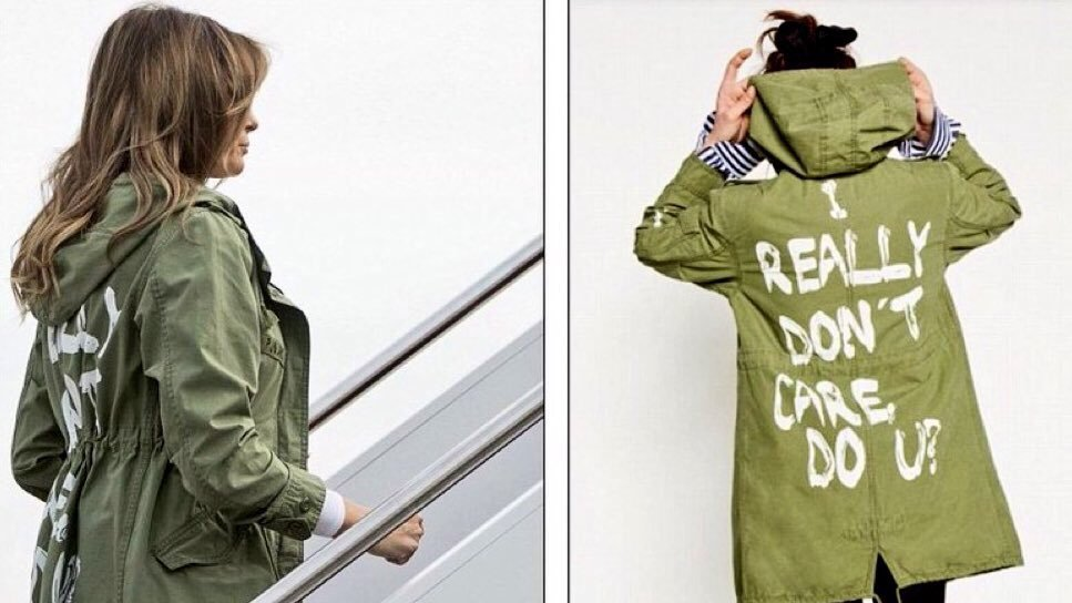 "Melania Trump really did wear an ""I really don't care"" jacket while on her way to visiting immigrant kids in cages"